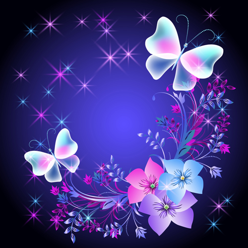 Flowers Flower Butterflies Beautiful Background