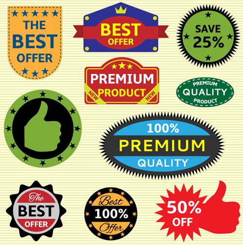 stickers seals creative colored