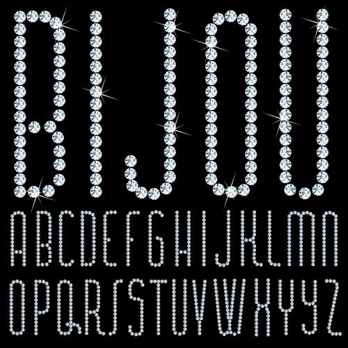 shining letters diamond