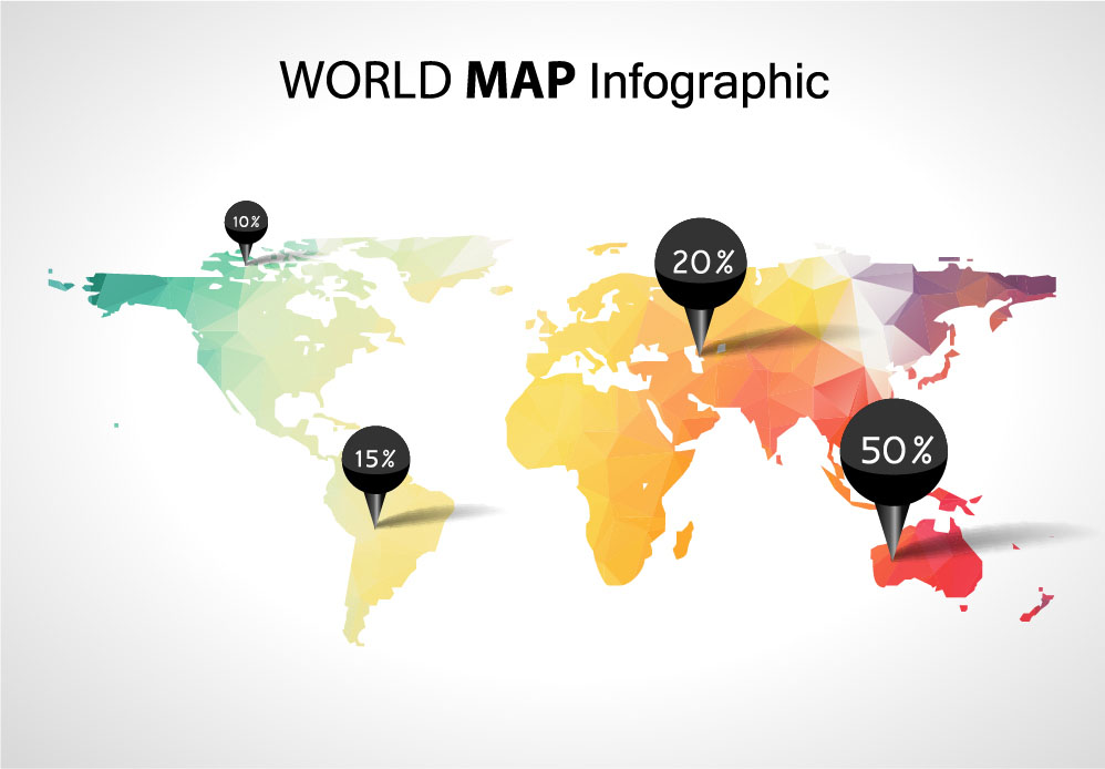 World map with business infographic vector 05 welovesolo world map with business infographic vector 05 gumiabroncs Images