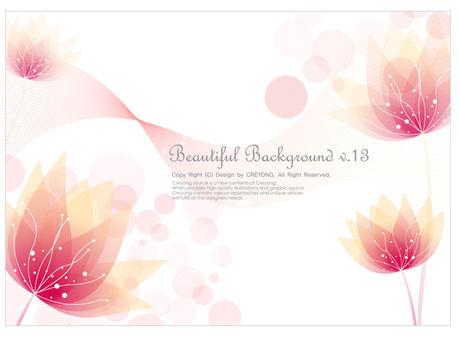 pink flowers elegant dream background