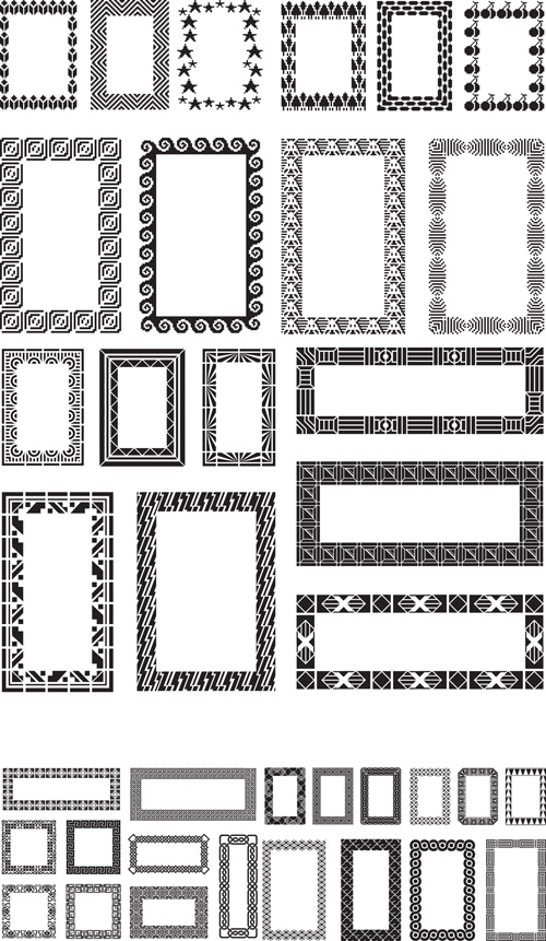 Different black frames vector set - WeLoveSoLo
