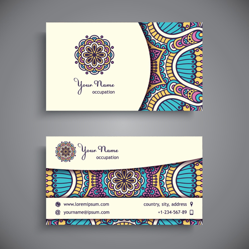 ethnic decorative business cards business