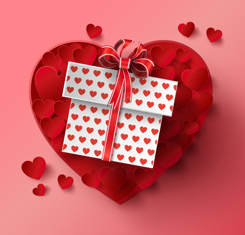 Gift box and heart red vector welovesolo heart gift box negle Gallery