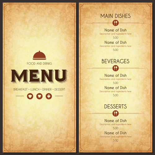 Restaurant Menu List Cover