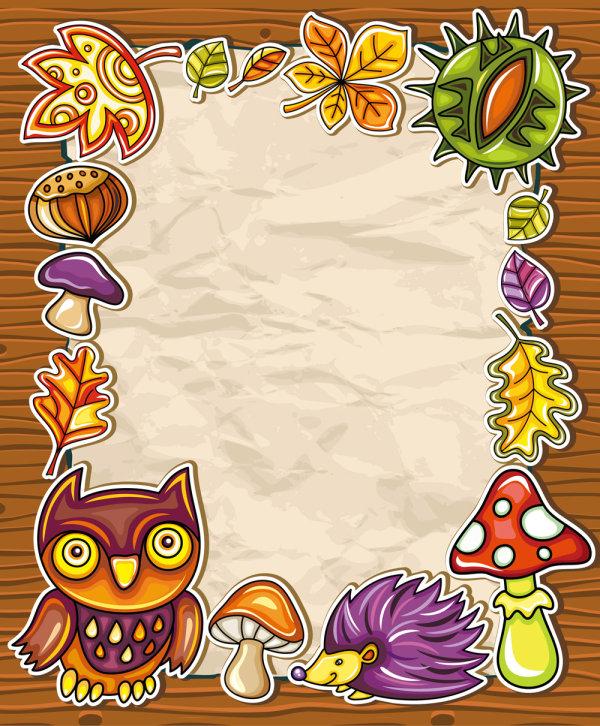 cartoon Owl Photo Frame vector - WeLoveSoLo