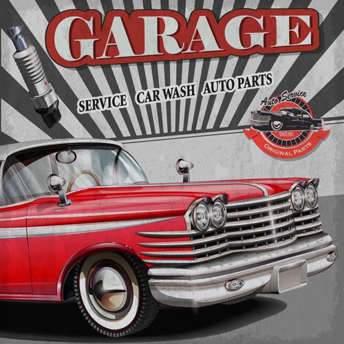 Vintage Style vintage posters car