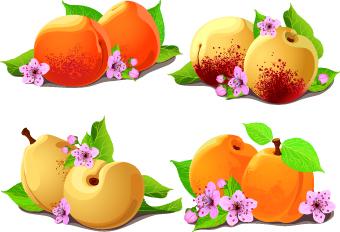pear peach fresh
