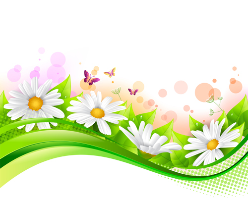 Spring flower with grass art background 05 welovesolo spring grass flower background mightylinksfo