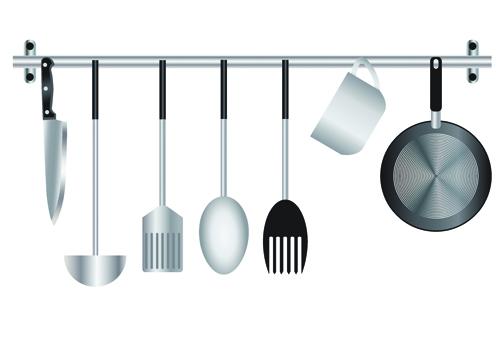 Various kitchen cutlery
