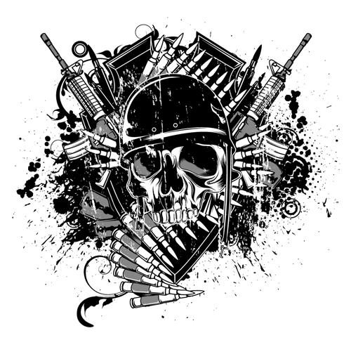 war design elements illustration vector graphic 04 welovesolo