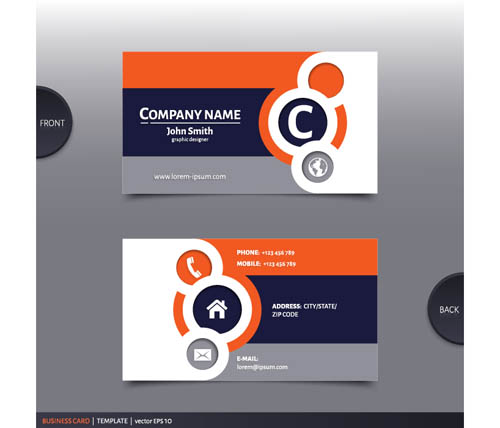 Best company business cards vector design 02 welovesolo company business cards business colourmoves