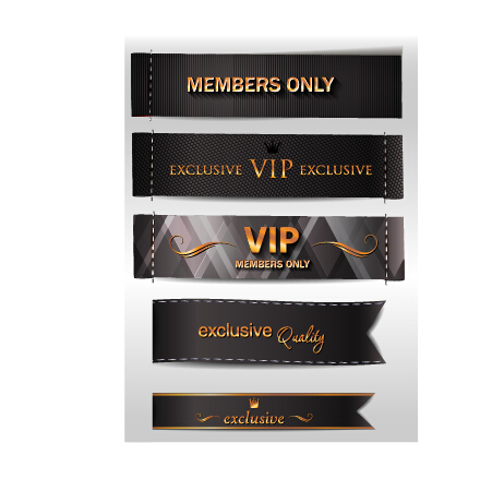 vip Vintage Style vintage material banners banner