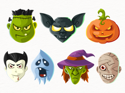 psd png icons head halloween free and