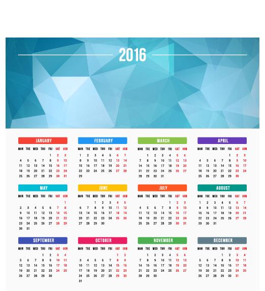 2016 company calendar creative design vector 10 welovesolo