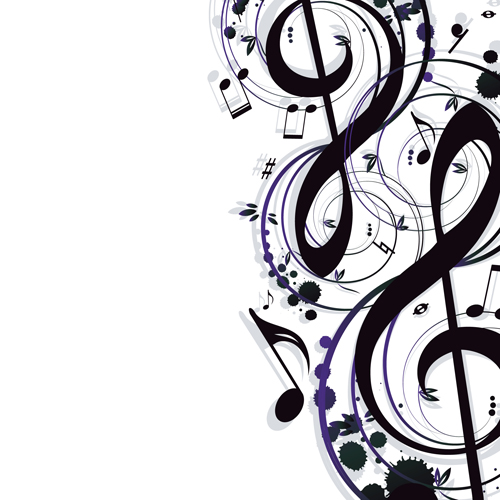 stylish music illustration vector graphic 04 welovesolo rh welovesolo com free music vector art music vector art free download