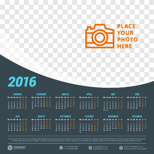 Calendar Design For Company : Company calendar creative design vector welovesolo