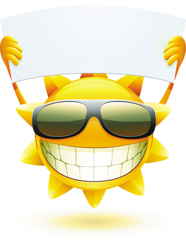 Cartoon sun smiley face vector design 04 - WeLoveSoLo