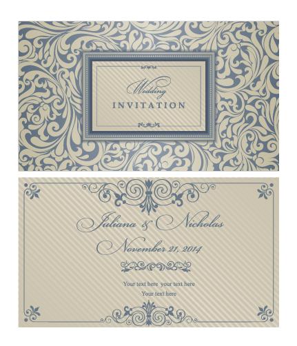 Decorative pattern wedding invitation cards vector set 01 welovesolo wedding pattern invitation cards invitation decorative pattern decorative cards stopboris Gallery