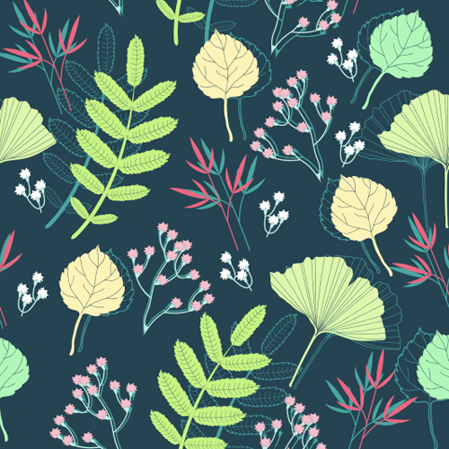 seamless pattern vector pattern flower