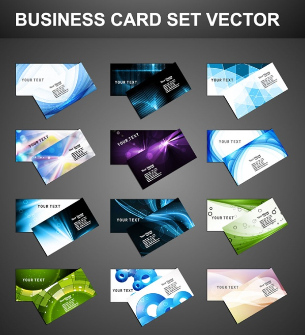 Elegant business card design set vector welovesolo elegant business cards business free eps file elegant business card design set vector download reheart Choice Image
