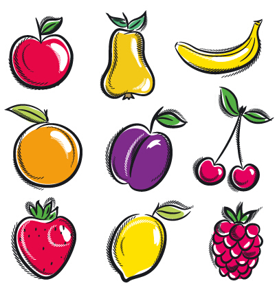 Hand Drawn Fruits Graphics Vector 01 Welovesolo