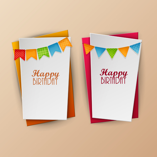 paper birthday banner