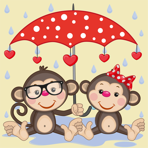 Cute animals and umbrella cartoon vector 18 welovesolo cute animals and umbrella cartoon vector 18 voltagebd Gallery
