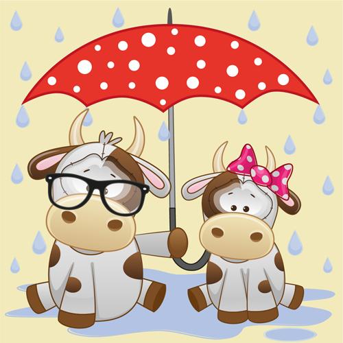 umbrella cute animals cartoon animals