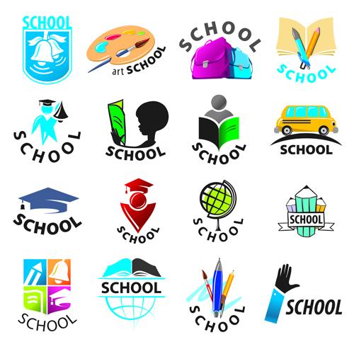 Vectors school logos