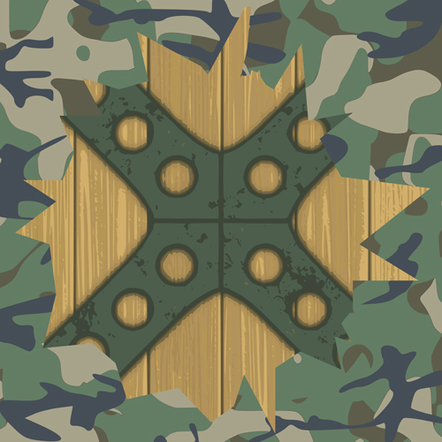 Military elements Frame vector 01 - WeLoveSoLo