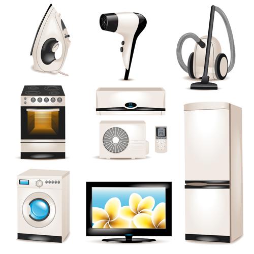 realistic illustration household appliances