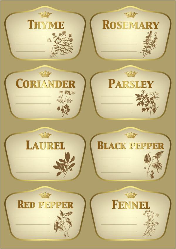 vegetation seasoning labels label