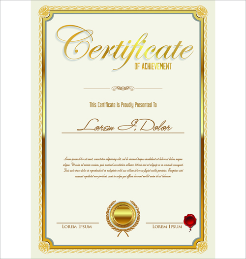 Vector template certificates design graphics 02 welovesolo vector template template certificates certificate yadclub Choice Image