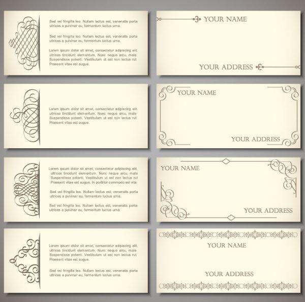 Set of vintage business card design vector 01 welovesolo set of vintage business card design vector 01 reheart Images