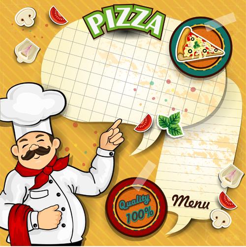 text pizza paper menu