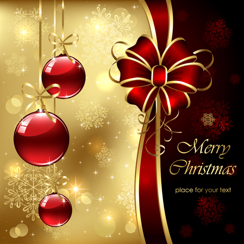Ornate golden christmas cards vector graphics 01 welovesolo ornate golden gold christmas cards card m4hsunfo