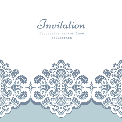 Decorative lace invitation cards vector design welovesolo decorative lace invitation cards vector design stopboris