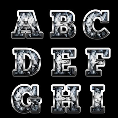 diamond styles alphabet design material 06 welovesolo