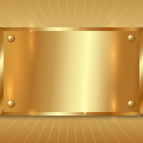 shiny metallic material golden design background