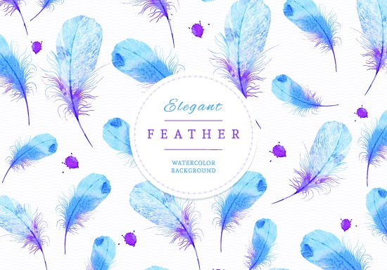 watercolor feather background