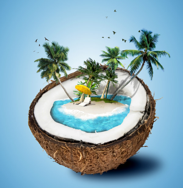 tropical travel creative background