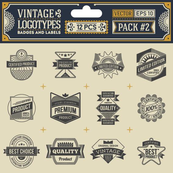 vintage logotypes label badges