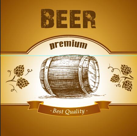Retro Beer Creative Poster Vector 02