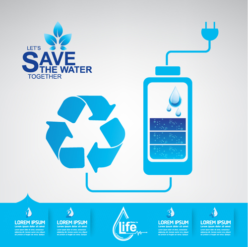 Save Water Infographics Template Vector 13 Welovesolo