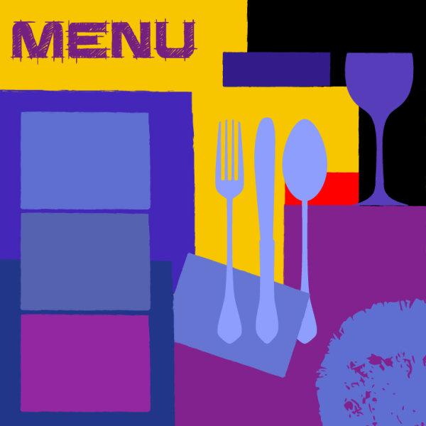 Vintage Style vintage restaurant menu cover