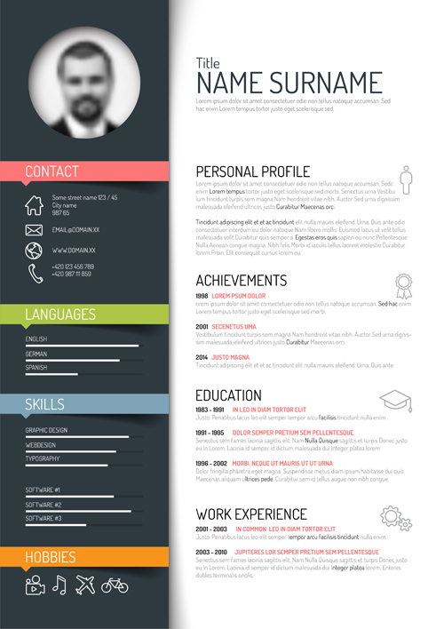 creative resume template design vectors welovesolocreative resume template design vectors creative resume template design vectors