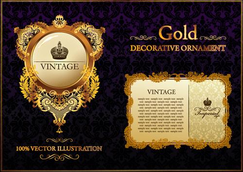 Vintage Style vintage luxury frame