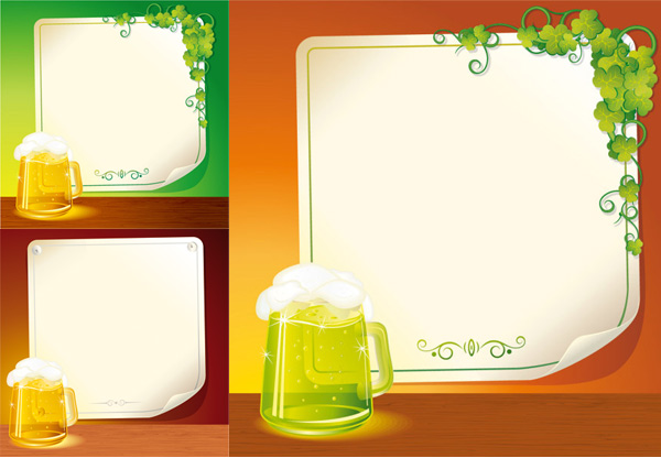 roll angle pattern paper hops frame cup of beer beer background