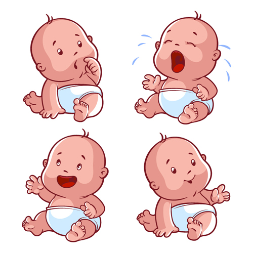 Cartoon baby cute design vector 01 welovesolo cute cartoon baby cartoon baby voltagebd Image collections